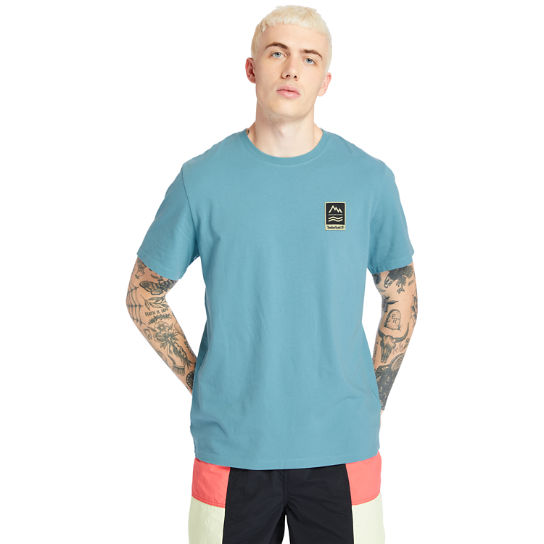 Outdoor Archive Graphic T-Shirt for Men in Blue | Timberland
