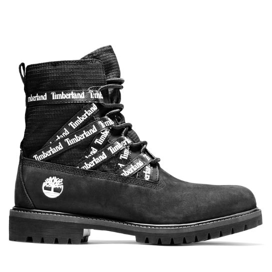 Premium Ribbon Lace-Up Boot for Men in Black | Timberland