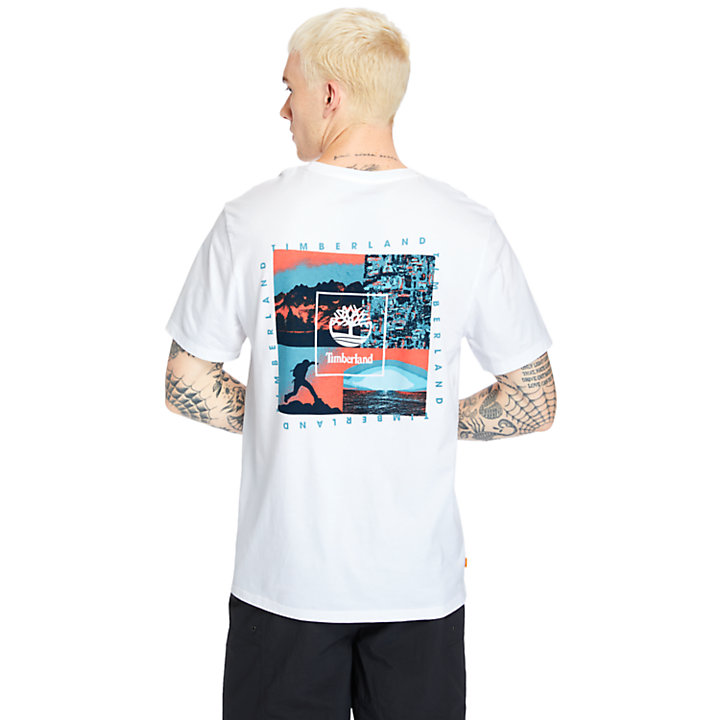 Summer Archive Graphic T-Shirt for Men in White-