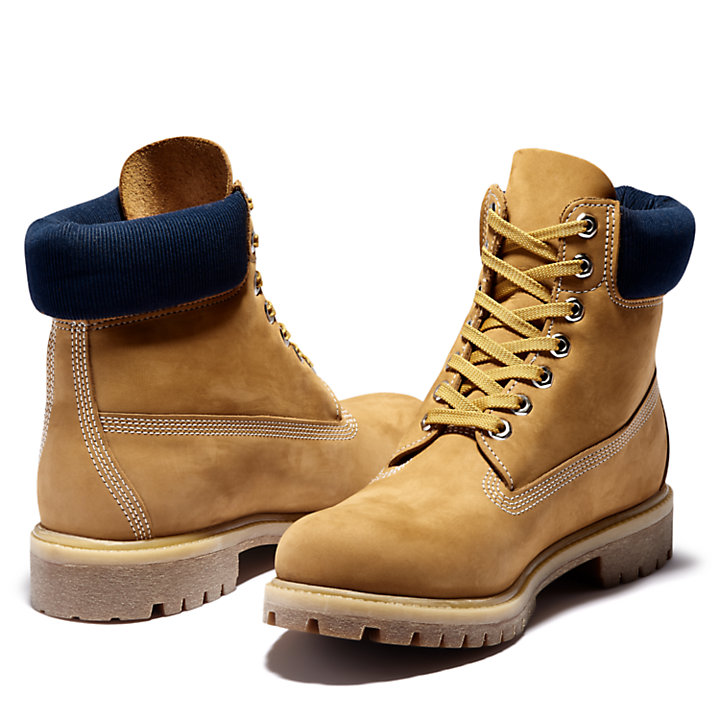 Timberland® Premium 6 Inch Boot in Yellow/Navy-