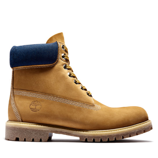Timberland® Premium 6 Inch Boot in Yellow/Navy | Timberland