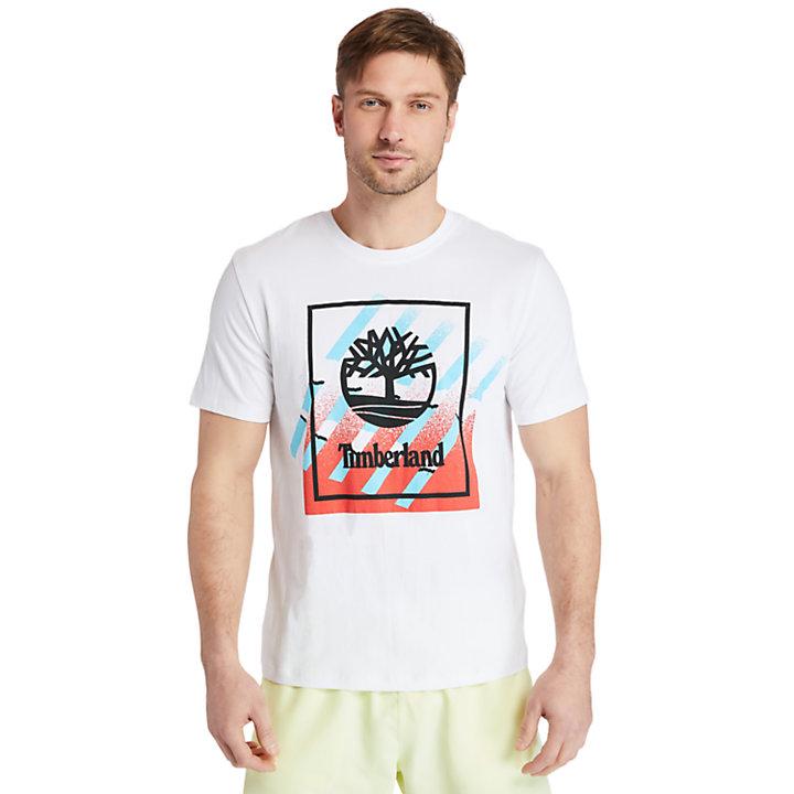 Logo T-Shirt for Men in White-