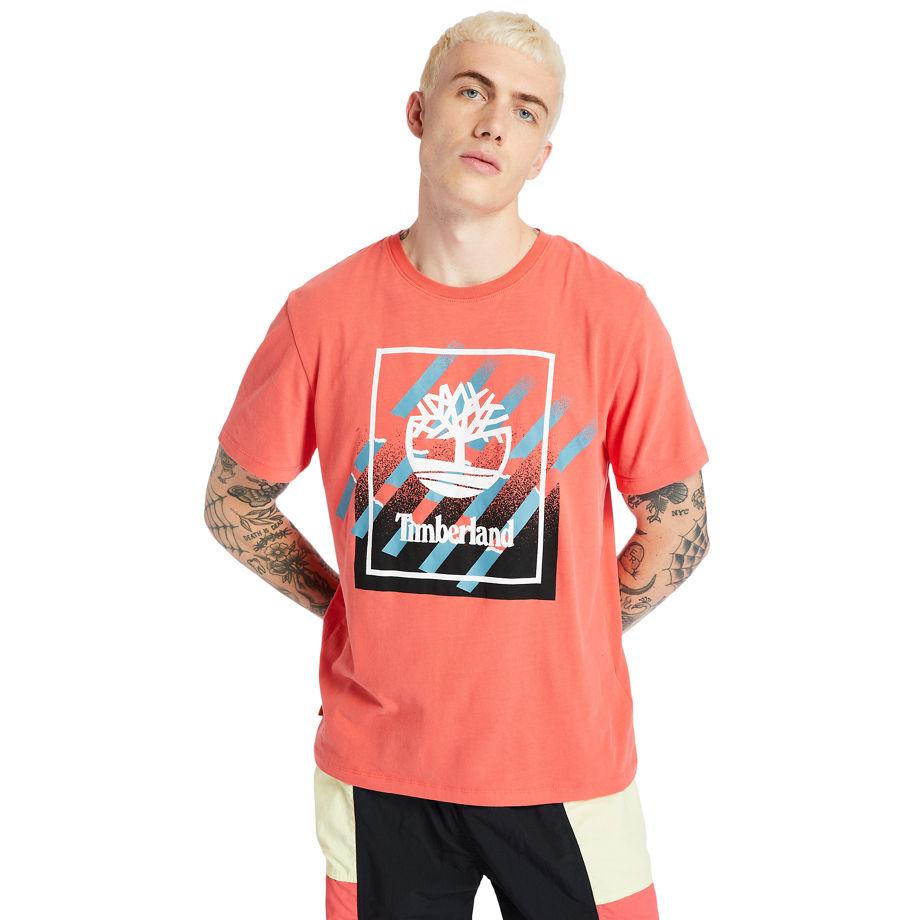 T-shirt À Logo En Corail Roses, Taille L - Timberland - Modalova