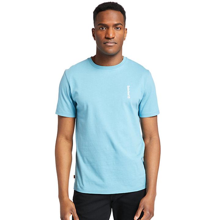 Camiseta con Gráfico en la Espalda Established 1973 para Hombre en azul-
