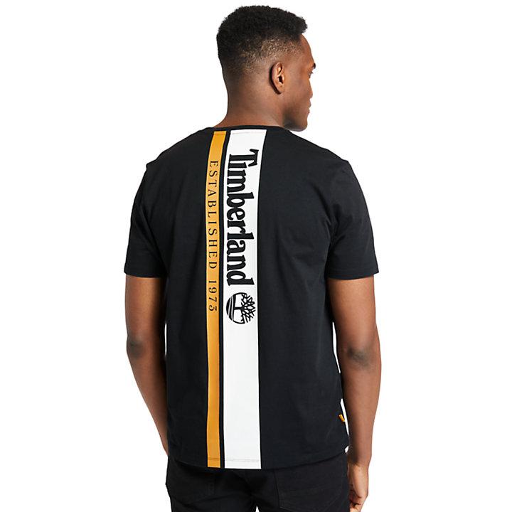 Established 1973 Back-Graphic T-Shirt for Men in Black-