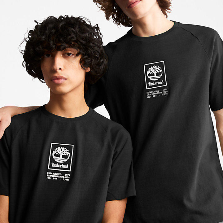 Heavyweight Logo T-shirt voor heren in zwart-
