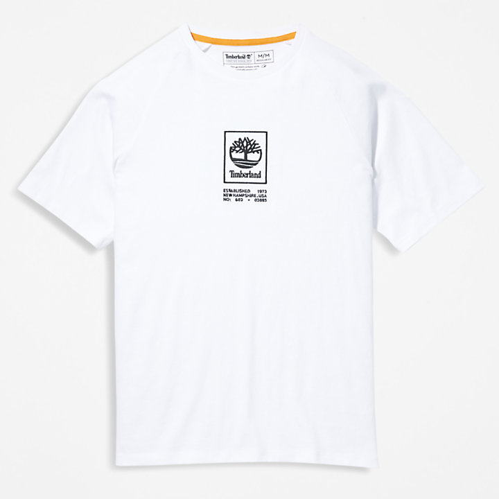 Heavyweight Logo T-Shirt for Men in White-