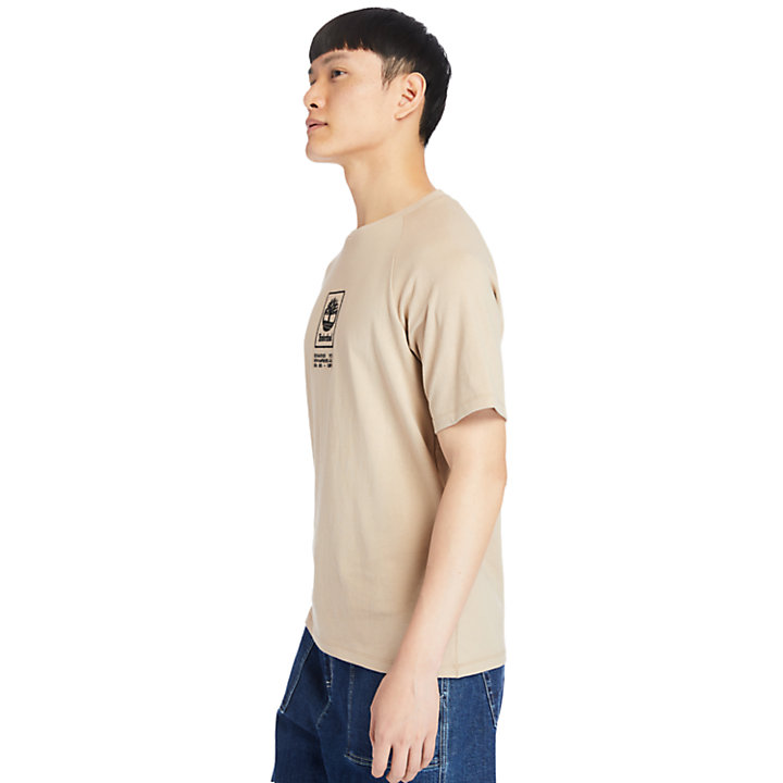 Heavyweight Logo T-Shirt for Men in Beige-