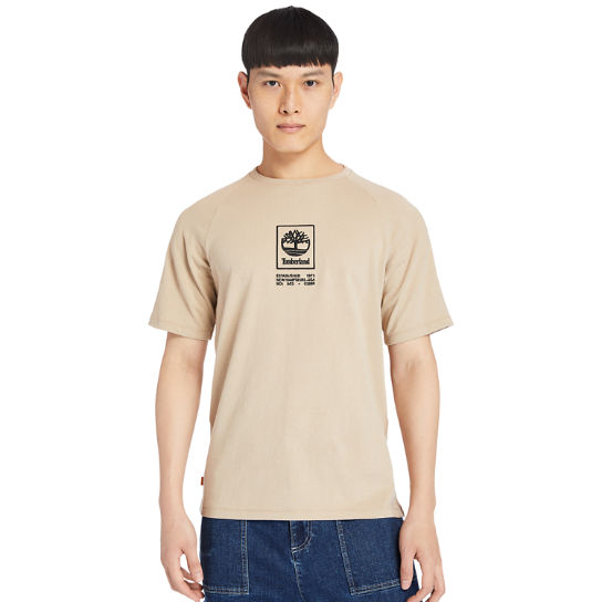 Heavyweight Logo T-Shirt for Men in Beige | Timberland