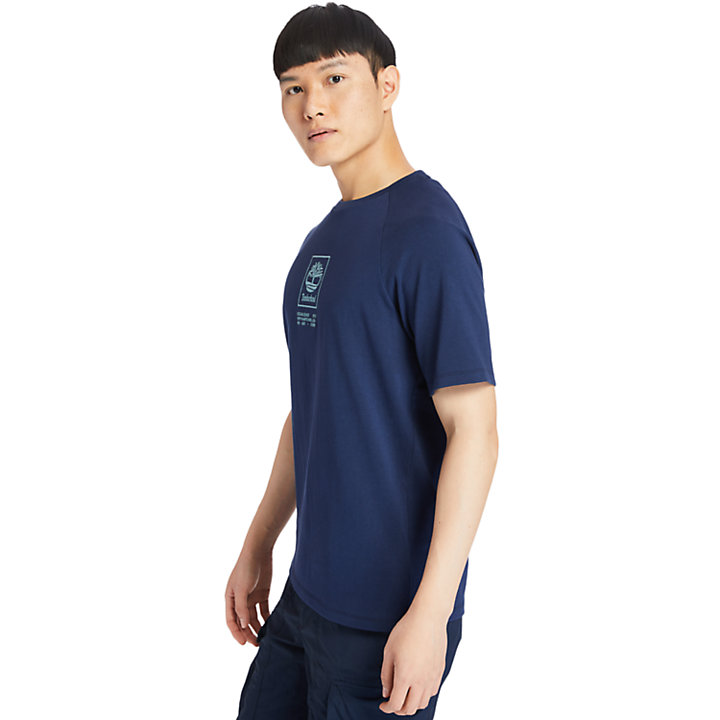 Heavyweight Logo T-Shirt for Men in Navy-