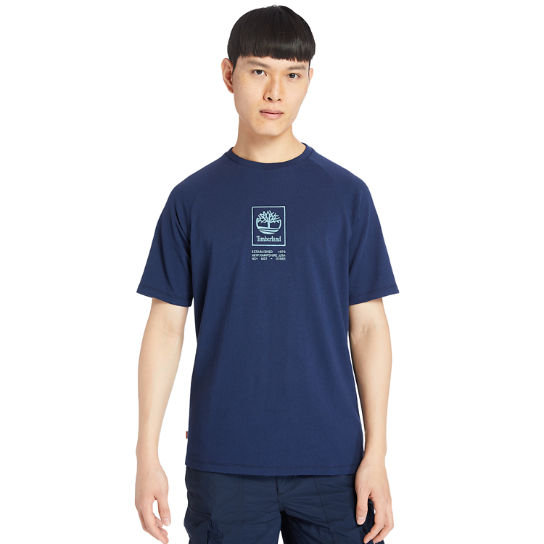 Heavyweight Logo T-Shirt for Men in Navy | Timberland