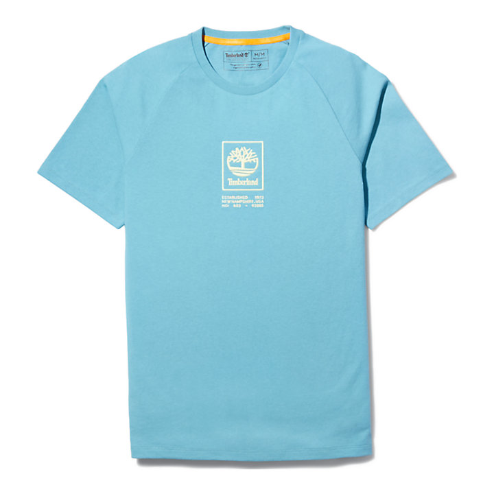 Heavyweight Logo T-Shirt for Men in Blue-