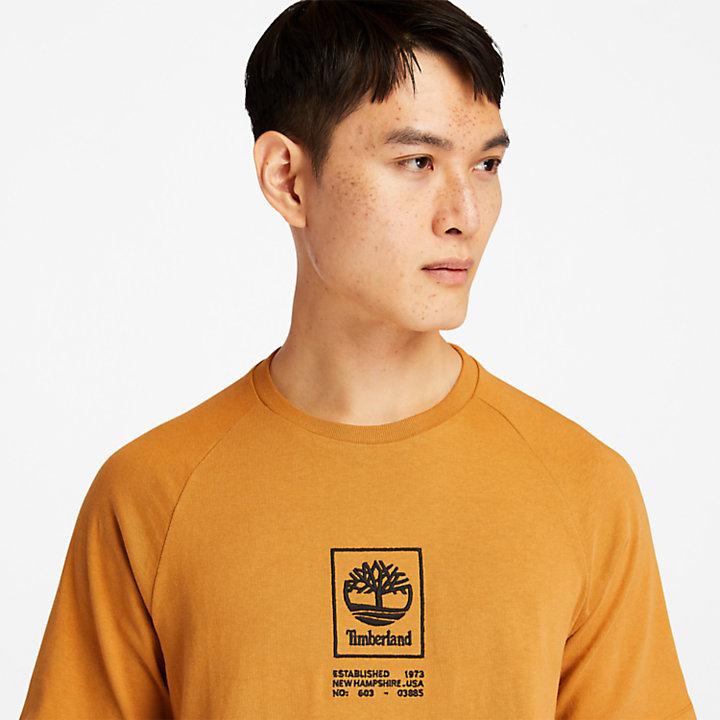 Camiseta con Logotipo en Tejido Resistente para Hombre en amarillo-