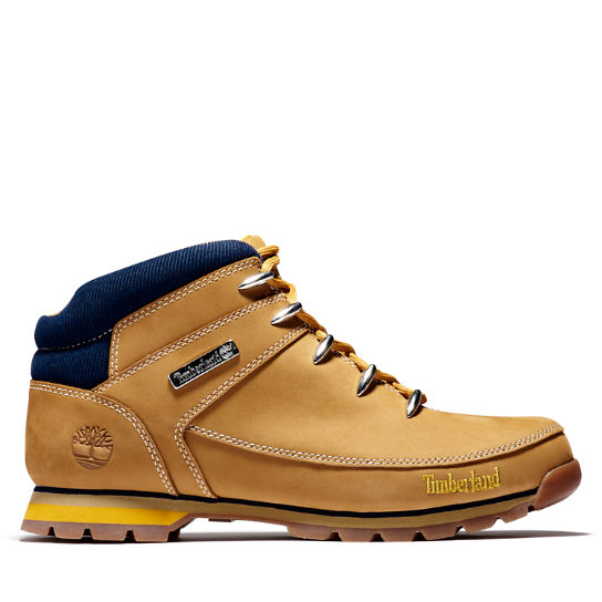 Euro Sprint Mid Hiker for Men in Yellow/Navy | Timberland
