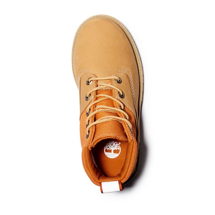 Premium 6 Inch Fabric & Leather Boots voor Kids in geel-