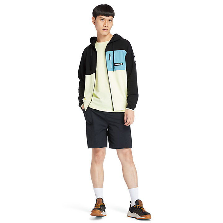 Outdoor Archive Full-zip Hoodie for Men in Black/Green-