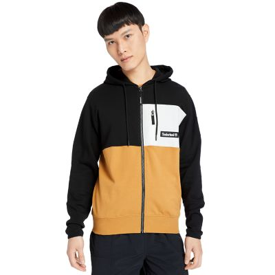 Outdoor+Archive+Full-zip+Hoodie+for+Men+in+Black%2FDark+Yellow