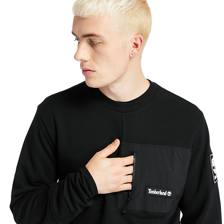 Outdoor Archive Crewneck Sweatshirt for Men in Black-