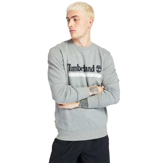 Sweat-shirt Established 1973 pour homme en gris | Timberland