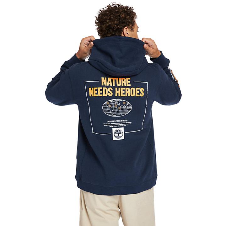 Sudadera con Capucha Nature Needs Heroes™ para Hombre en azul marino-
