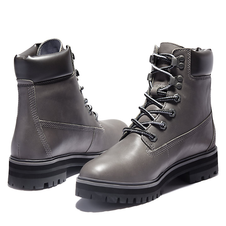 6-Inch Boot London Square pour femme en gris-