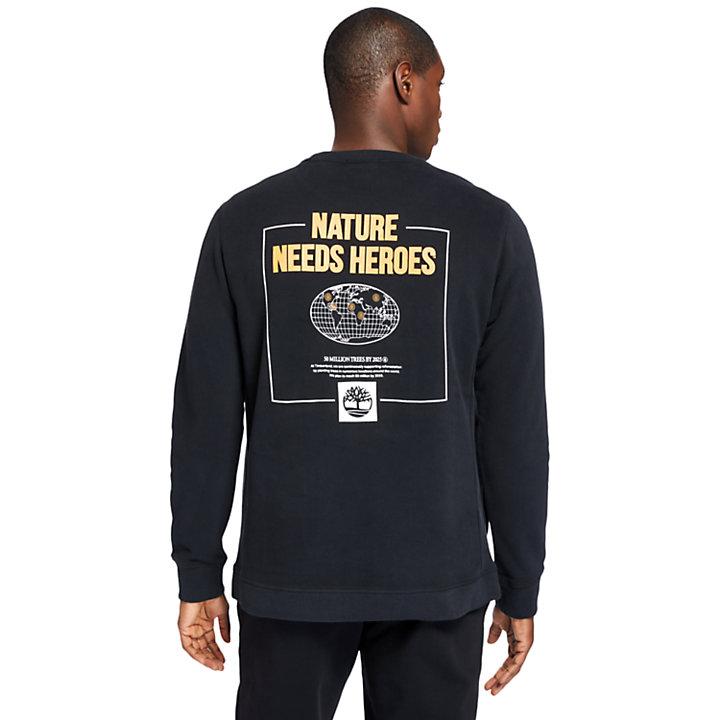Sweat-shirt Nature Needs Heroes™ pour homme en noir-