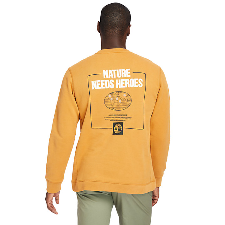 Nature Needs Heroes™ Sweatshirt for Men in Yellow-