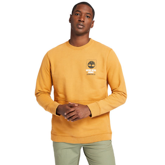 Nature Needs Heroes™ Sweatshirt for Men in Yellow | Timberland