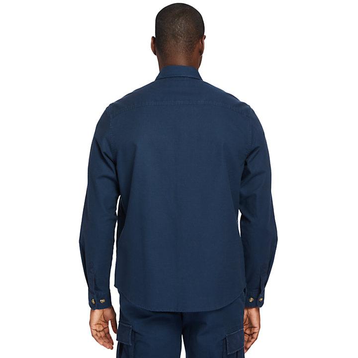 Surchemise cargo légère pour homme en bleu marine-