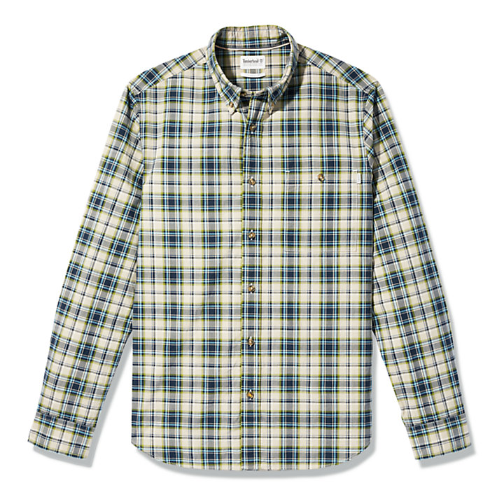 Essential Check Shirt for Men in Beige-