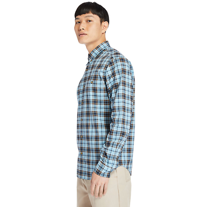 Essential Check Shirt for Men in Teal-