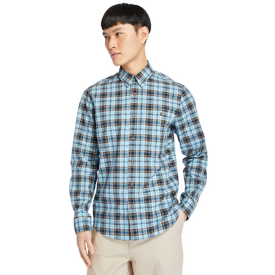 Essential Check Shirt for Men in Teal | Timberland