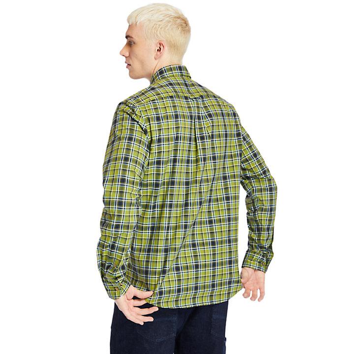 Chemise à carreaux Essential pour homme en vert-