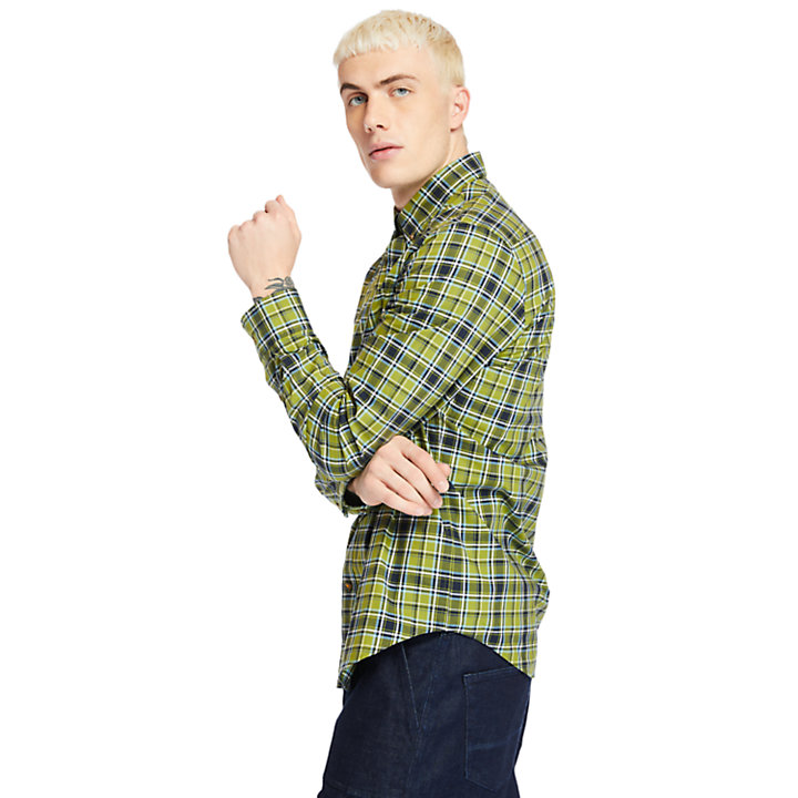 Essential Check Shirt for Men in Green-