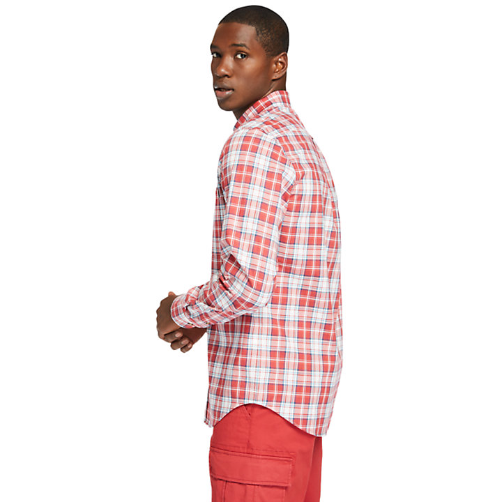 Essential Check Shirt for Men in Red-