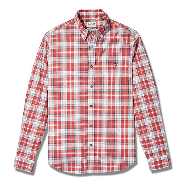 Camicia da Uomo a Quadri Essential in rosso-