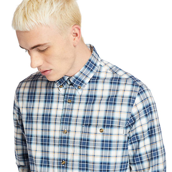 Essential Check Shirt for Men in Blue-
