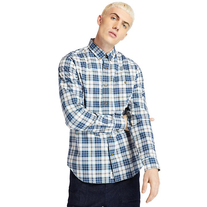Camisa a Cuadros Essential para Hombre en azul-