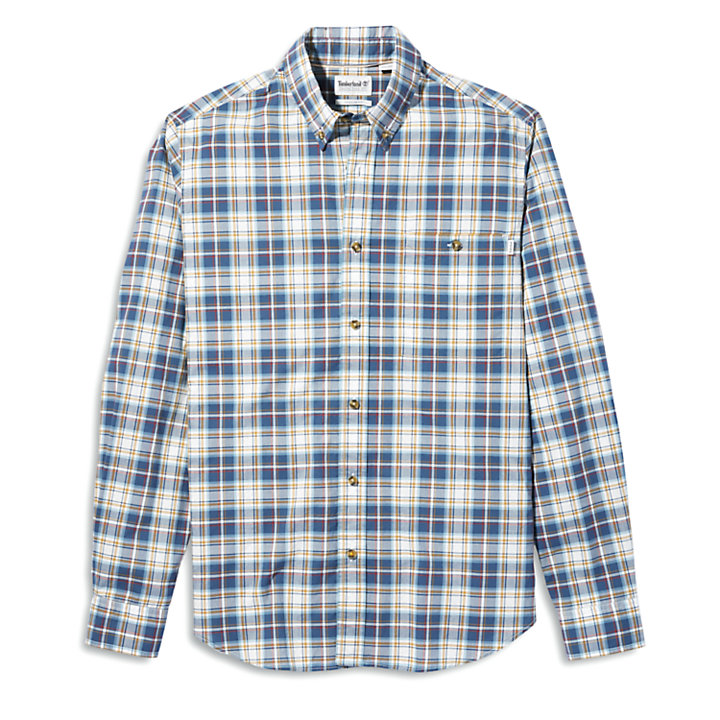Essential Check Shirt for Men in Blue/Yellow-