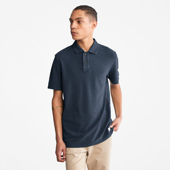 Garment-Dyed Polo Shirt for Men in Navy | Timberland