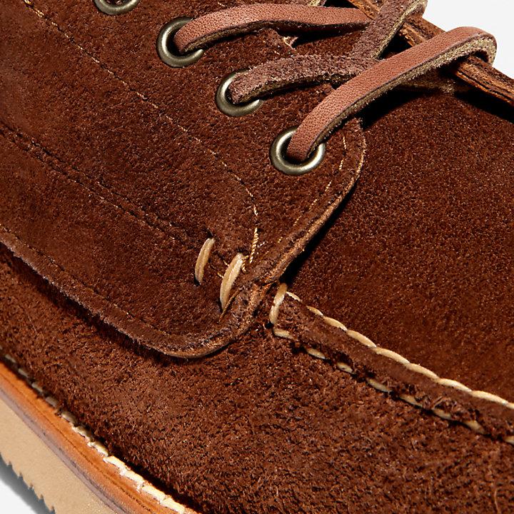 American Craft Boat Shoe for Men in Dark Brown-