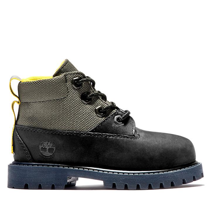 6-Inch Boot Premium en tissu et cuir enfant noir-