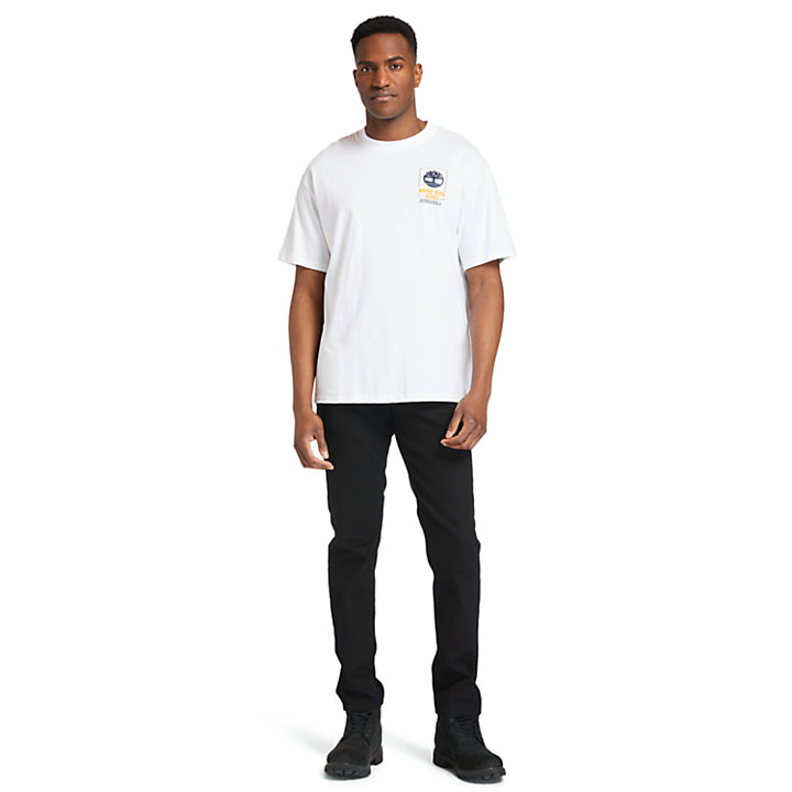 Nature Needs Heroes™ Back-graphic T-Shirt for Men in White-