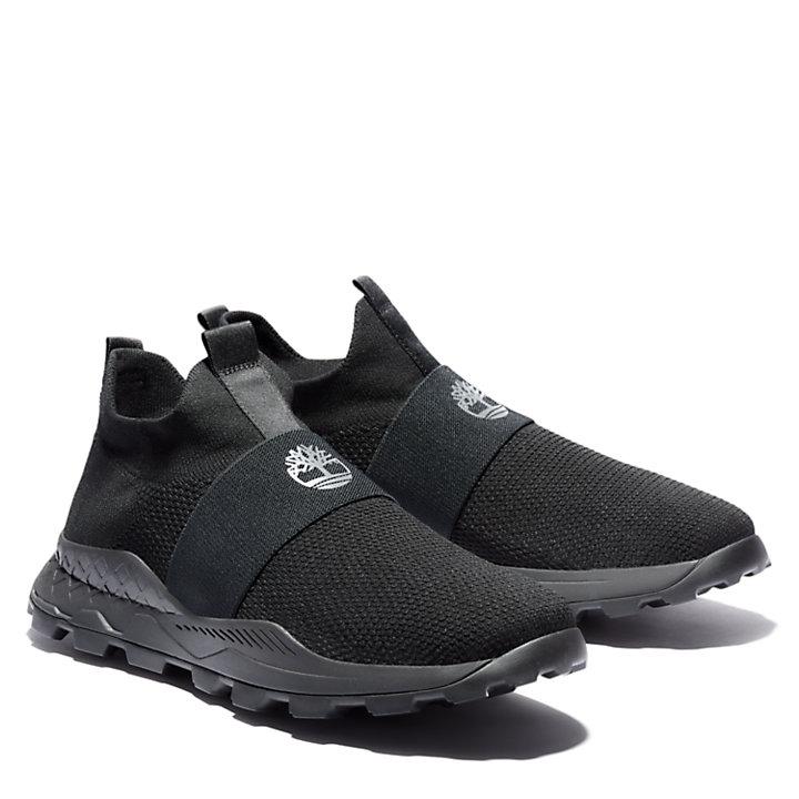 Brooklyn Slip-On Sneaker for Men in Black Monochrome-
