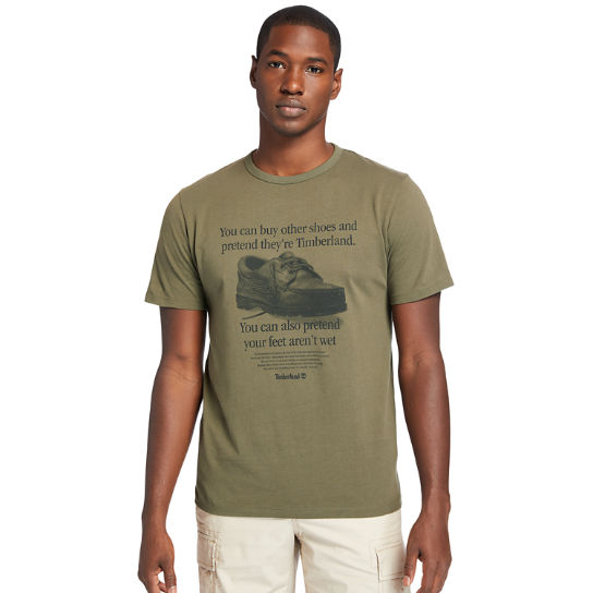 Archive-Print T-Shirt for Men in Dark Green | Timberland