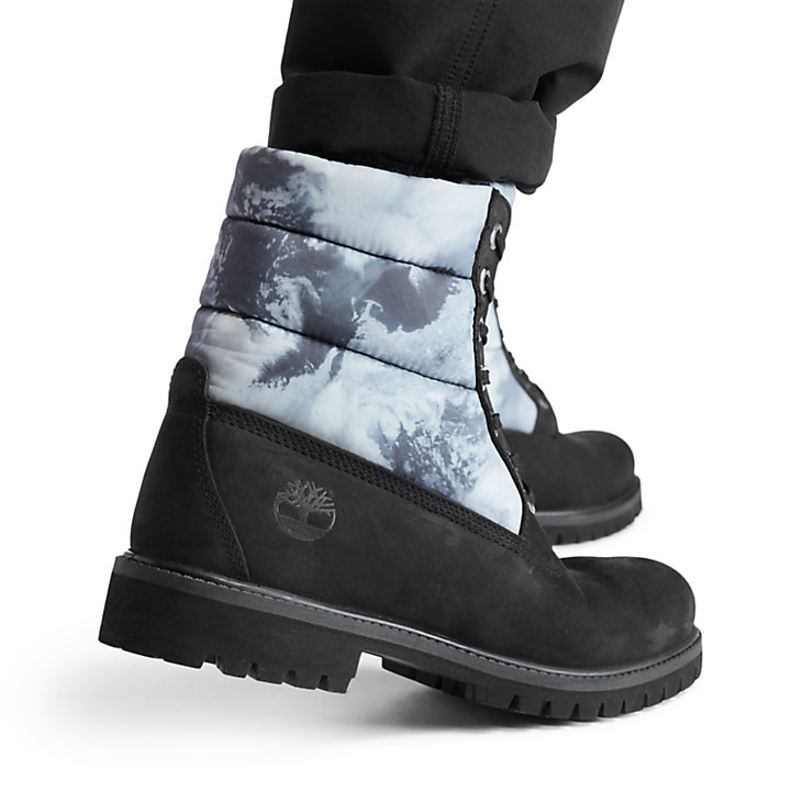 Climate Pack Premium 6 Inch Quilt Boot for Men in Black-