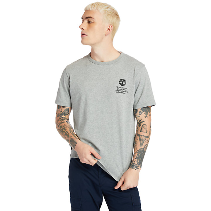 Archive Back-print Boot T-shirt for Men in Grey-