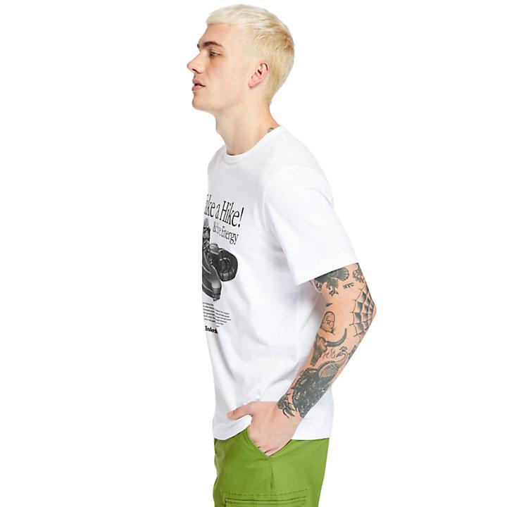 T-shirt à imprimé Archive pour homme en blanc-