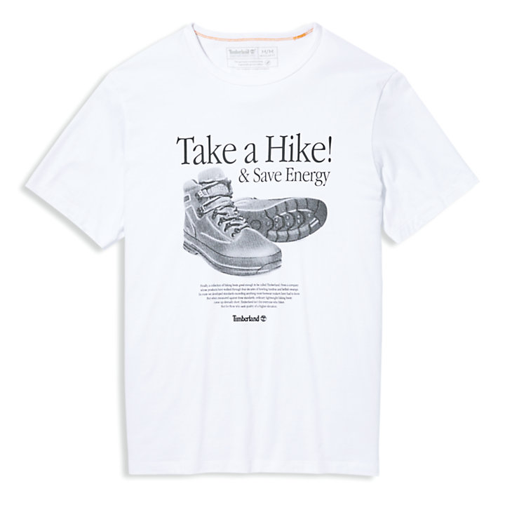 Archive-Print T-Shirt for Men in White-