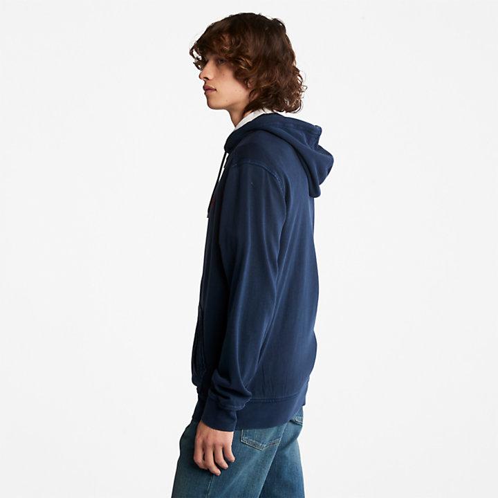 Sunwashed Zip-front Sweatshirt for Men in Navy-